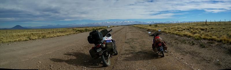 panorama of the ride to Aqua del Toro
