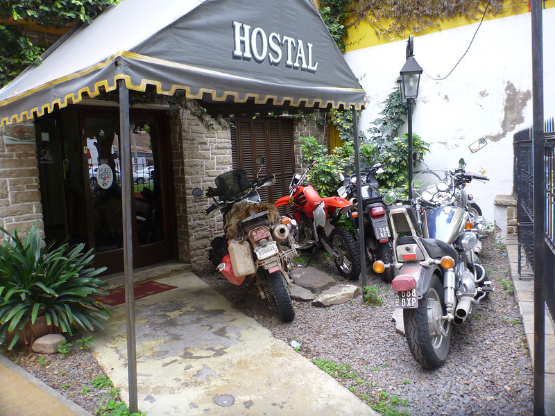A group of four other Argentine motorcycle travelers pulled up to our hostel in Salta shortly after we did.
