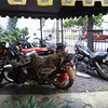 Motorcycle parking in Salta.