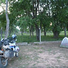 Our campsite at the gas station just inside Argentina.