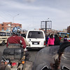 traffic was dense on our way into la Paz.  Lots of pedestrians thrown into the mix, too.  We only witnessed one loud crash, but thankfully weren't directly involved.