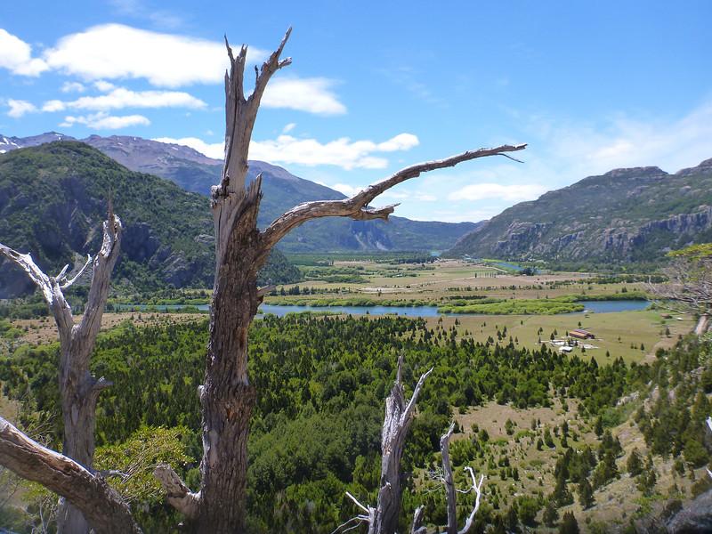 looking back towards Argentina, Sector Rio Chico, Reserva Nacional Futaleufú