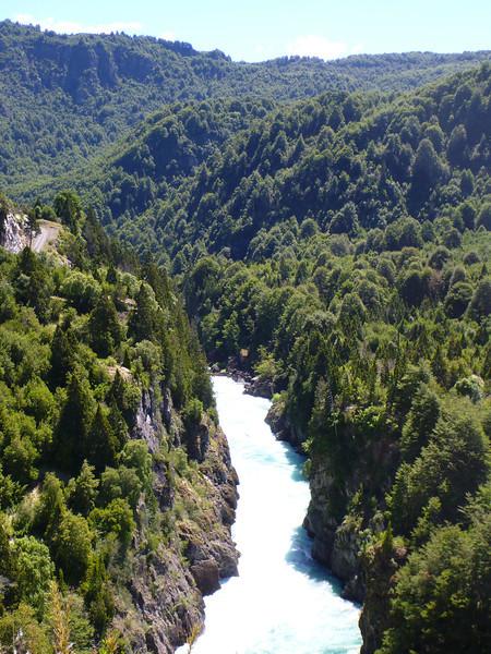 Cañon del Inferno (Hell's Canyon) is known for its Class V rafting, las Escalas, Reserva Nacional Futaleufú