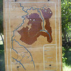 Only map we had of the hiking trails (we didn't find the entire loop), Sector Rio Chico, Reserva Nacional Futaleufú