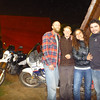 Us with the bikes, Carla and Osvaldo in La Serena.