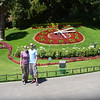 Us in front of the flower clock in Vina del Mar.