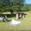 camp north of Cochrane.  The bugs were so bad that helmets were worn at all times.