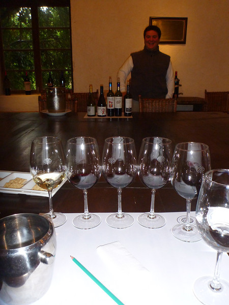 Wine tasting with our guide at the Viu Manent winery in the Colchagua valley.