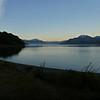 sunset over Lago General Carrera