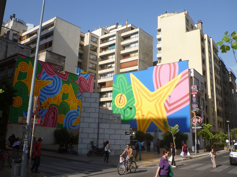 Subway street art in Santiago.
