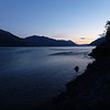 sundown at the end of the Carretera Austral