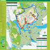 CONAF Torres del Paine trail map with routes highlighted (300 kB)