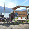 The 3 of us at the end of the Carretera Austral