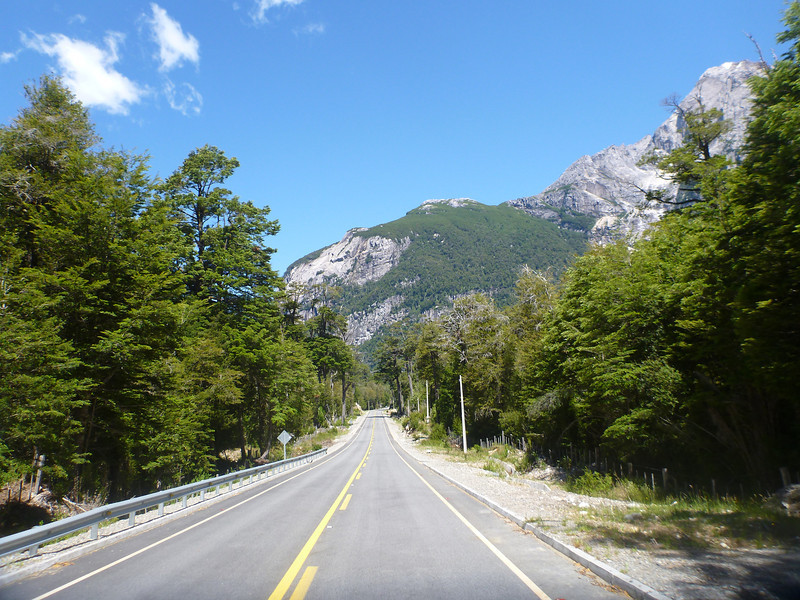 pavement on the Carretera Austral