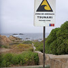 Tsunami hazard zone at the beach in Pichidangui.