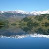 Perfect reflection in Lago Tranquilo, Valle Exploradores