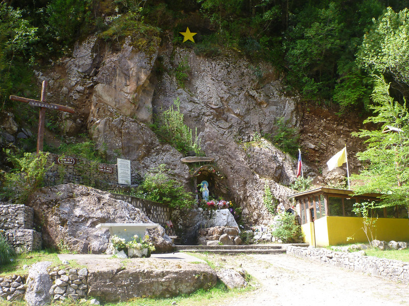 shrines at Virgin Falls, Carretera Austral