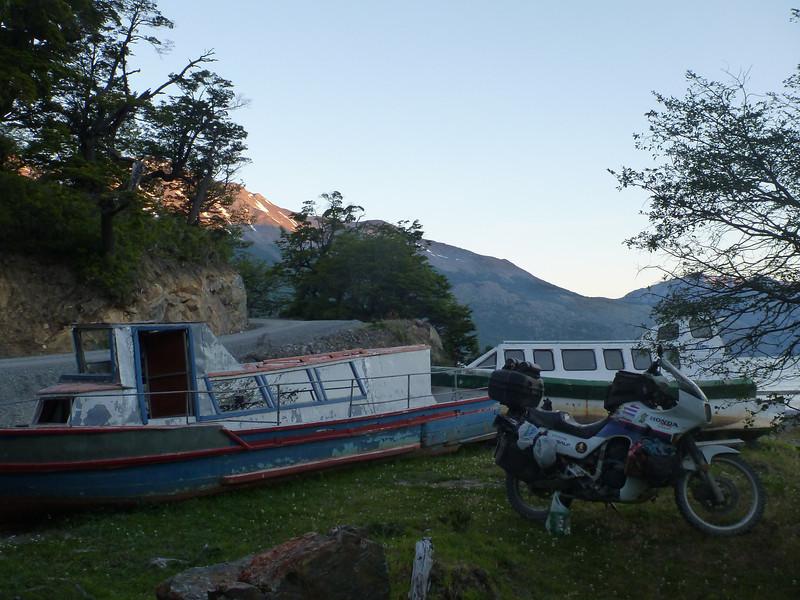 camping at Media Luna, just south of Villa O'Higgins