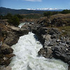 rushing water to a falls, south of Cochrane