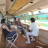 eating lunch in a retired bus, Villa Amenguai