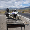 Grilled Transalp on the Panamericana