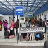 Line for Migración, Tulcán, Ecuador
