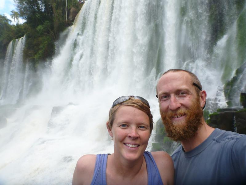 us in front of Salto Bossetti  (Cataratas de Iguazú)
