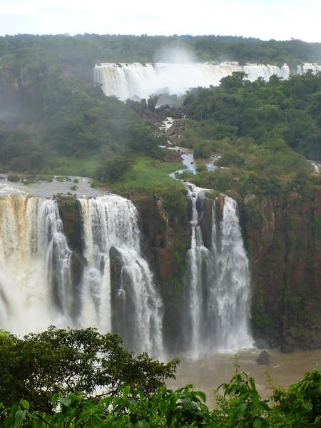 water snaking through the foliage of the Argentine side  (Foz do Iguassu)