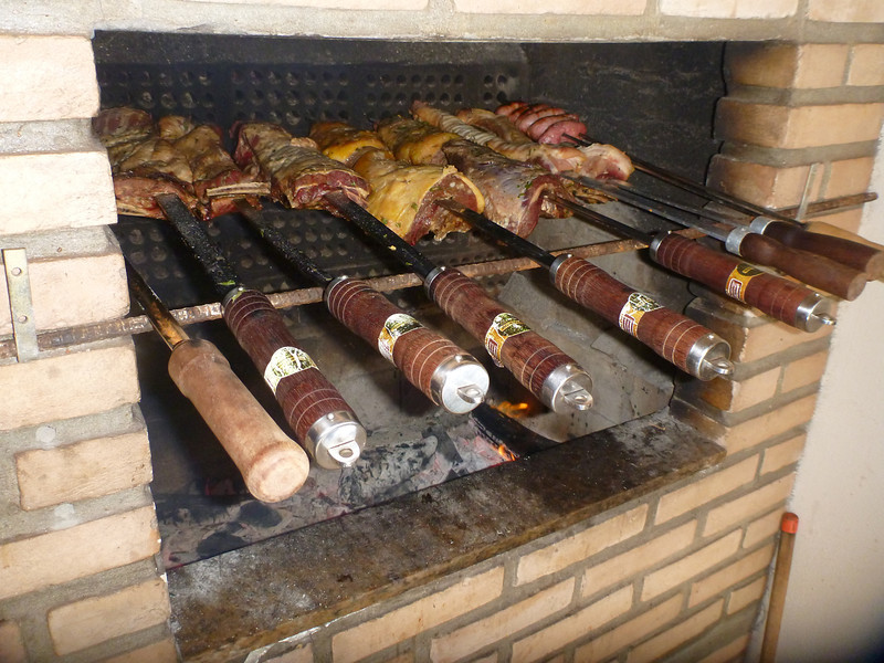 Lamb and beef on skewers.  Roberto liked to cook and was quite good at it.  The meat was all phenomenal!