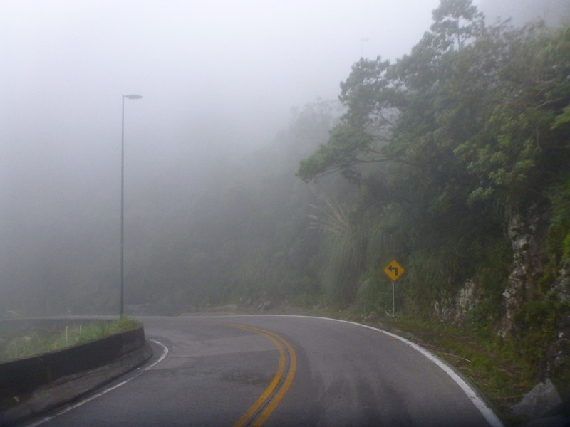 Foggy left at Serra rio do Rastro