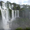 the span of falls as seen from the island  (Cataratas de Iguazú)