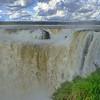 la Garganta del Diablo with sunlit clouds  (Cataratas de Iguazú)