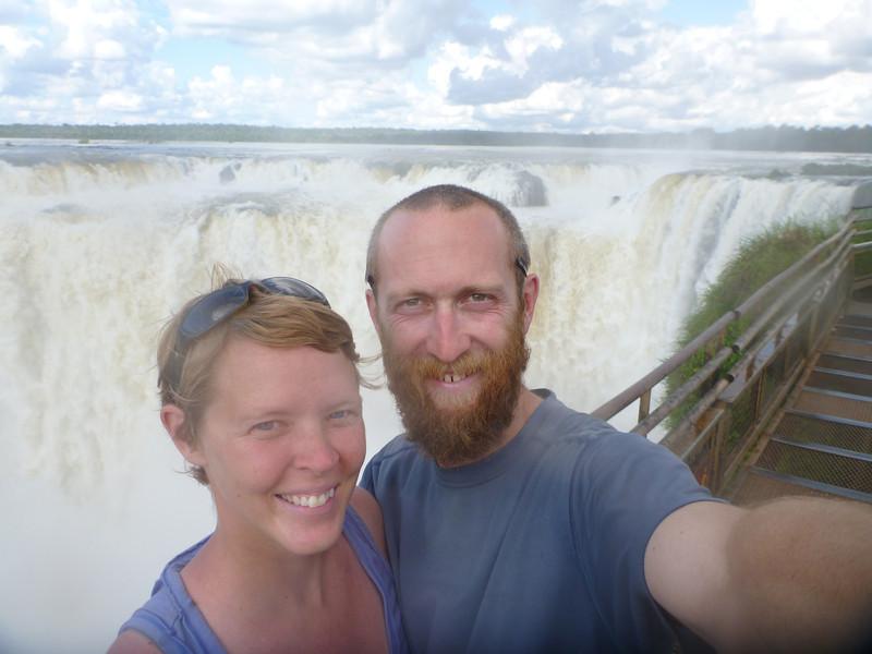 us in front of la Garganta del Diablo  (Cataratas de Iguazú)