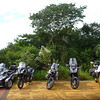 There were some other bikers visiting the Argentine side (Cataratas de Iguazú)