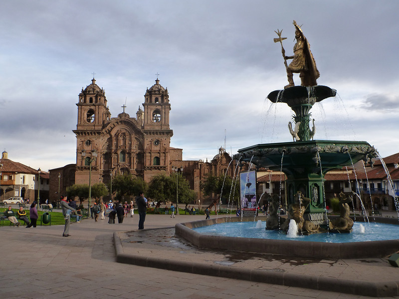 The main plaza in Cusco