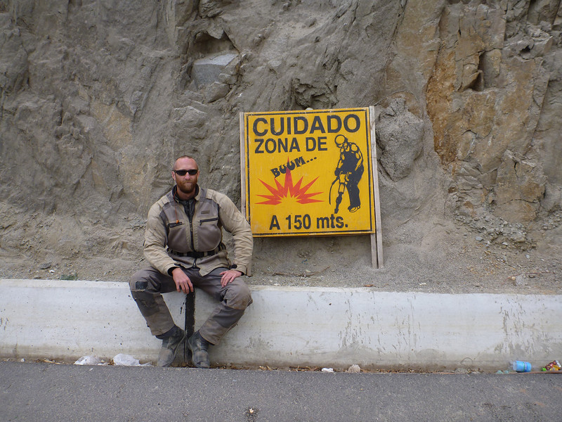 Mike in the Zone of Boom on the way to Abancay