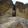 Us in the narrow door at Kuelap