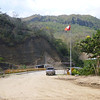 On the Peruvian side of the Ecudor-Peru border crossing.