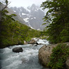 clear, cold, glacial stream.  Valle Francés, Torres del Paine