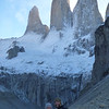 Jill and Mike (zoomed in) at the mirador de las Torres, Torres del Paine