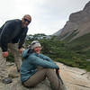 Mike and Jill posing.  Valle Francés, Torres del Paine