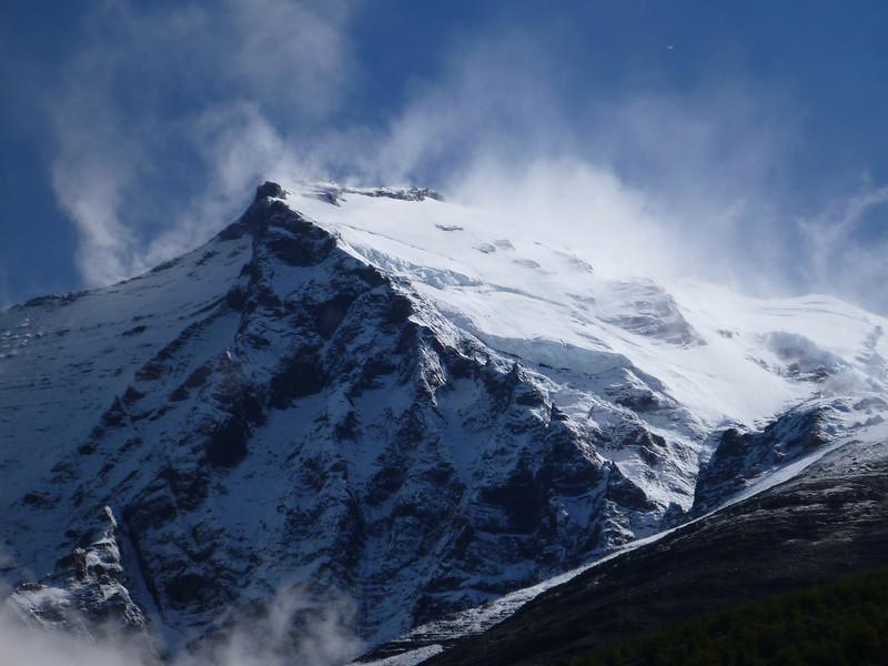 spindrifts off Monte Almirante Nieto, Torres del Paine