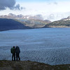 Christie and David taking in the view, Campo Hielo Sur