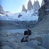 Jill and Mike at the mirador de las Torres, Torres del Paine