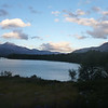 sunset over Lago Dickson, Torres del Paine