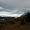 view from campamento Las Carretas the first night, towards the Campo de Hielo Patagonica Sur, Torres del Paine