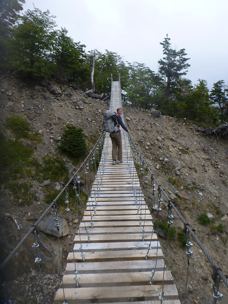 This bridge was really high up there, between Campamento Paso and the old Campamento Las Guardas, Torres del Paine