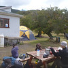 Taking a lunch break at Campamento Serón, Torres del Paine