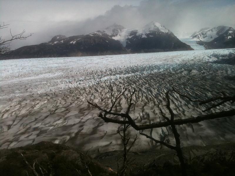 Strange formations on Glaciar Grey, Torres del Paine