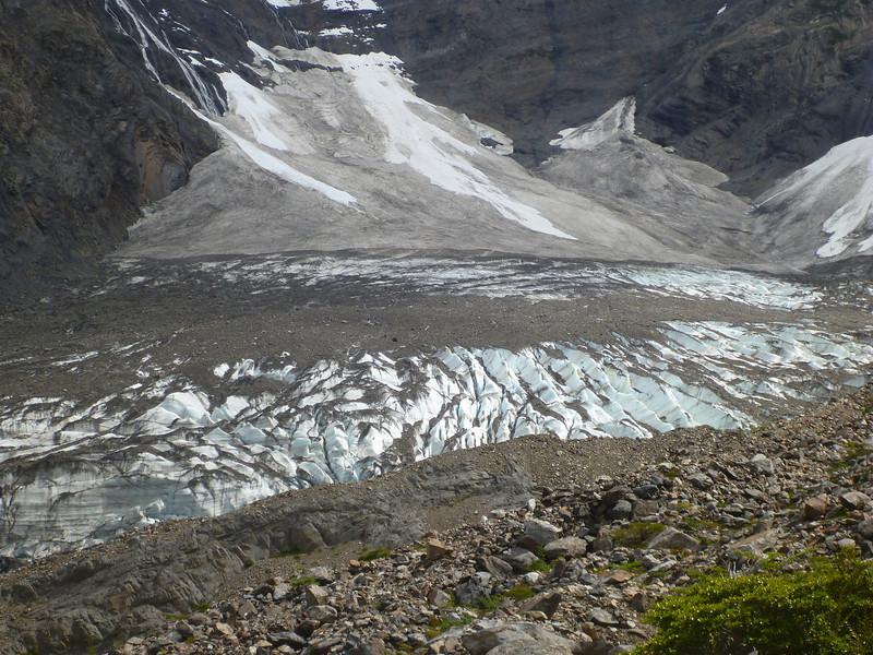 dirty glacier.  Valle Francés, Torres del Paine